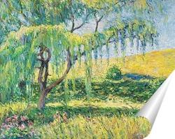 Постер Ива в саду. В Живерни