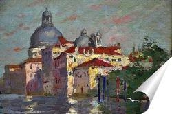 Постер Вид на канал Гранде и Санта-Мария-Делла-Салюте, Венеция