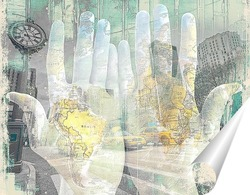 Постер Артпостер. Карта мира