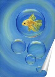 Постер Золотая рыбка