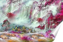 Постер Прекрасный водопад