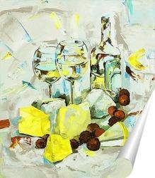 Постер Белое вино