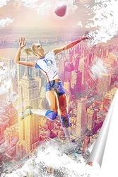 Постер Полет в волейболе