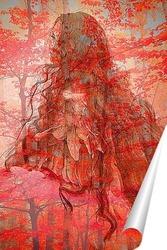 Постер Девушка Осень