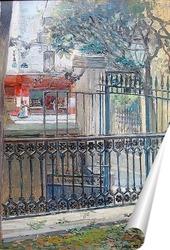 Постер Парижская уличная сцена