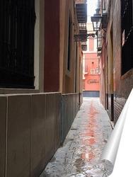 Постер Узкие улочки Севильи