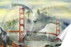 "Постер ""Золотые ворота"" Сан-Франциско"