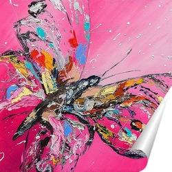 Постер Бабочка на розовом