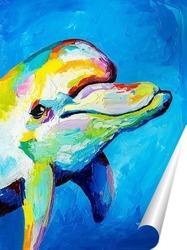 Постер Улыбка дельфина
