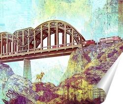 Постер Ретро мост