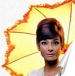 Постер Девушка с зонтиком