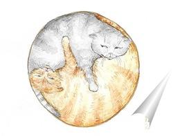 Постер Кошачья гармония