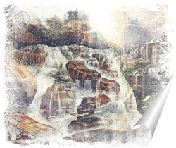 Постер Стремительный водопад