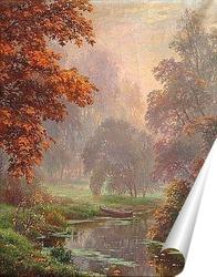 Постер Туман над рекой.