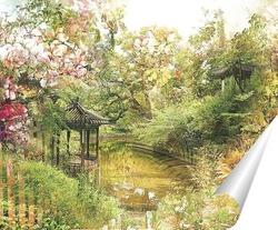 Постер Сад цветов