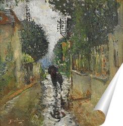 Постер Улица под дождем