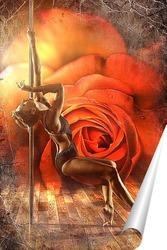 Постер Стрипденс в розах