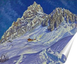 Постер Кандерштег зимой