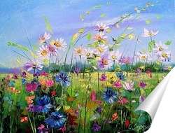 Постер Цветущее поле