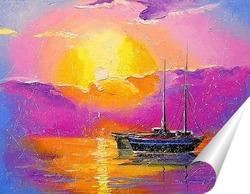 Постер Розовый закат