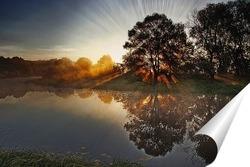 Постер солнечный рассвет