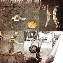 Постер Игроки в баскетбол
