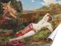 Постер Венера и Купидон