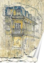 Постер Зарисовка здания