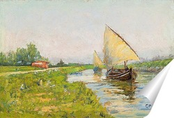 Постер Баржи вдоль канала