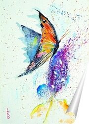 Постер Бабочка на цветке