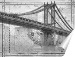 Постер Манхэттенский мост