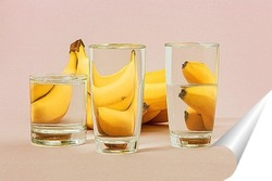 Постер Бананы за стеклом