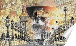 Постер Прогулка по мосту