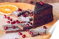 Постер Шоколадный торт
