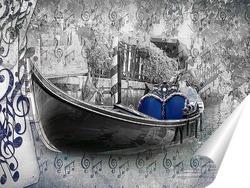 Постер Гондола на воде