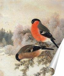 Постер Снегири