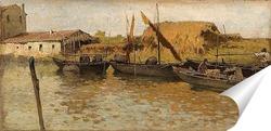 Постер Лодки на канале
