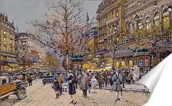 Постер Париж бульвар