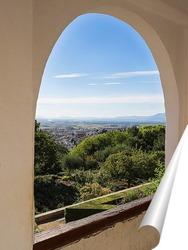 Постер Сады и арки Альгамбры