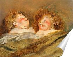 Постер Два спящих младенца