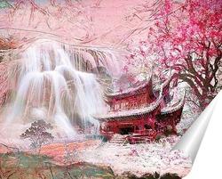 Постер Водопад в Китае