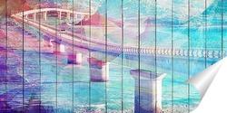 Постер Мост над проливом