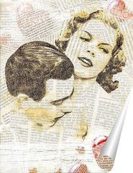 Постер Ретро поцелуй