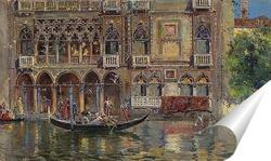 Постер Гондола и венецианский дворец