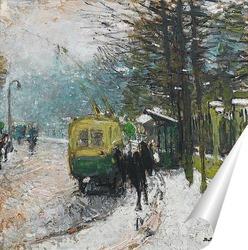 Постер Трамвай под снегом