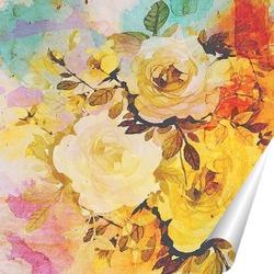 Постер Акварельные розы