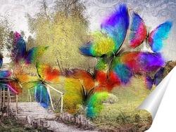 Постер Бабочки в поле