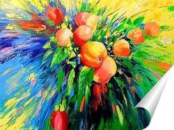 Постер Ветка спелых яблок
