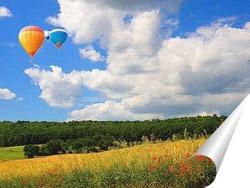 Постер летнее небо