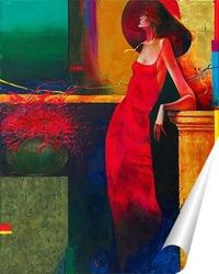 Постер Красный цветок
